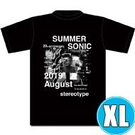 フォトコラージュTシャツ BLACK (XL)※事後販売分