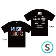 ラインナップTシャツ BLACK [S]