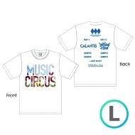 ラインナップTシャツ WHITE [L]