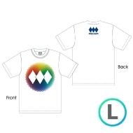 レインボーロゴTシャツ WHITE [L]