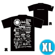 1DAY限定 アーティストロゴコラージュTシャツ [TOKYO 8.17 /  OSAKA 8.16] ブラックボディ  (XL)※事後販売分