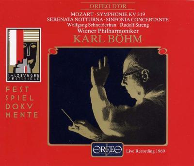 交響曲第33番、セレナード第6番、協奏交響曲 ベーム&ウィーン・フィル(ザルツブルク1969)