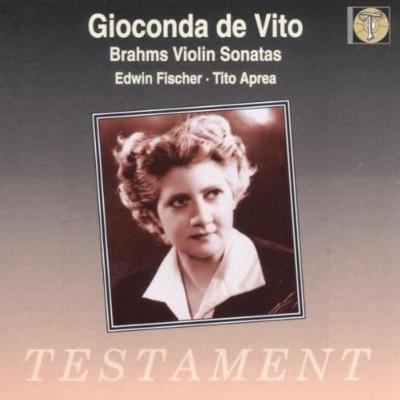 ヴァイオリン・ソナタ第1番、第2番、第3番 ジョコンダ・デ・ヴィート、エトヴィン・フィッシャー、ティート・アプレア