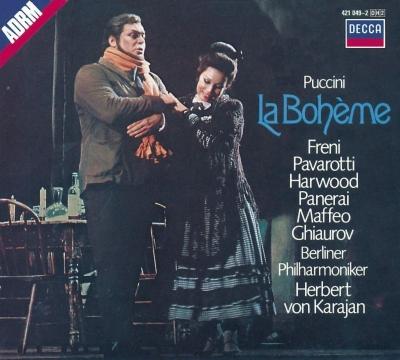 『ボエーム』全曲 ヘルベルト・フォン・カラヤン&ベルリン・フィル、ルチアーノ・パヴァロッティ、ミレッラ・フレーニ、他(1972 ステレオ)(2CD)