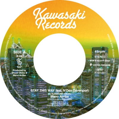 Stay This Way Feat.N'dea Davenport (Dj Kawasaki 45edit): / You Can Make It Feat.Tasita D'mour (Dj Kawasaki 45edit)