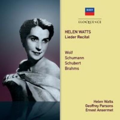 『歌曲リサイタル〜ヴォルフ、シューマン、ブラームス、シューベルト』 ヘレン・ワッツ、ジェフリー・パーソンズ(2CD)