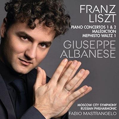 ピアノ協奏曲第1番、第2番、呪い、メフィスト・ワルツ第1番 ジュゼッペ・アルバネーゼ、ファビオ・マストランジェロ&モスクワ市交響楽団「ロシア・フィルハーモニー」