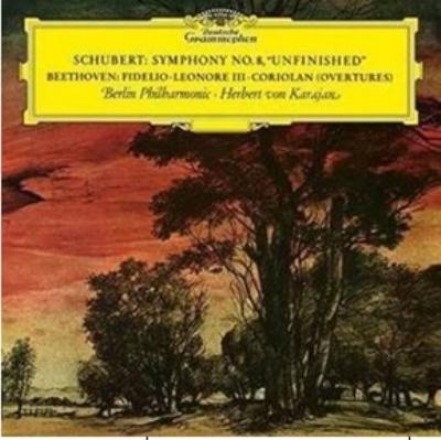 シューベルト:交響曲第8番『未完成』、ベートーヴェン:序曲集 カラヤン&ベルリン・フィル (アナログレコード/Deutsche Grammophon)