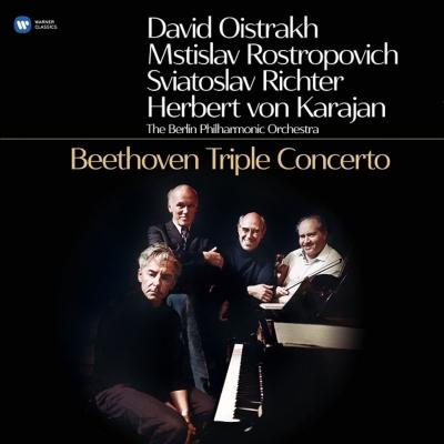 ベートーヴェン:ヴァイオリン、チェロ、ピアノのための三重協奏曲 カラヤン、オイストラフ(Vn)、ロストロポーヴィチ(Vc)、リヒテル(P) (180グラム重量盤レコード)
