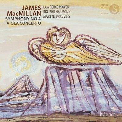 交響曲第4番、ヴィオラ協奏曲 マーティン・ブラビンズ&BBCフィル、ローレンス・パワー
