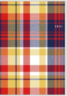 クレール インデックス 2 手帳 2021年 B6判 マンスリー クリアカバー No.385(2021年版1月始まり)