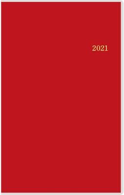 T'beau (ティーズビュー)インデックス 5(レッド)手帳 2021年 手帳判 ウィークリー クリアカバー レッド No.338(2021年版1月始まり)