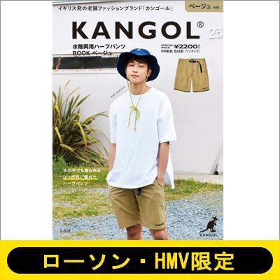 KANGOL 水陸両用ハーフパンツ BOOK ベージュ 画像
