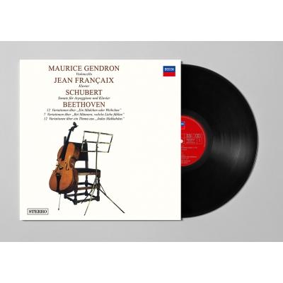 シューベルト:アルペジオーネ ベートーヴェン:モーツァルト『魔笛』の「娘か女か」の主題による12 の変奏曲他 モーリス・ジャンドロン (180グラム重量盤レコード)