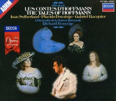 『ホフマン物語』全曲 ボニング&スイス・ロマンド管弦楽団、ドミンゴ、サザーランド、バキエ、他(1971 ステレオ)(2CD)