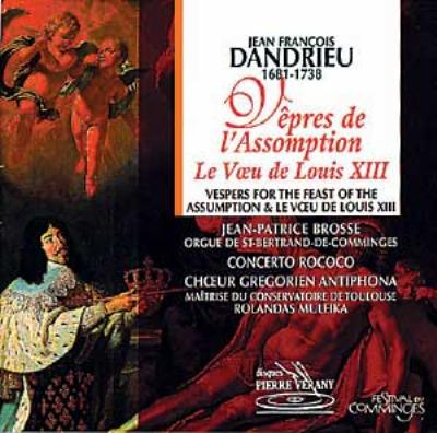 Vepres Assomption: Brosse / Concerto Rococo Choeur Antiphona