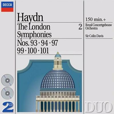 交響曲93番、第94番、第97番、第99番、第100番、第101番 コリン・デイヴィス&コンセルトヘボウ管弦楽団(2CD)
