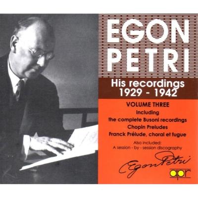 Egon Petri Recordings Vol.3