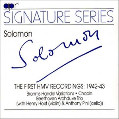 Solomon The First Hmv Recordings 1942-3