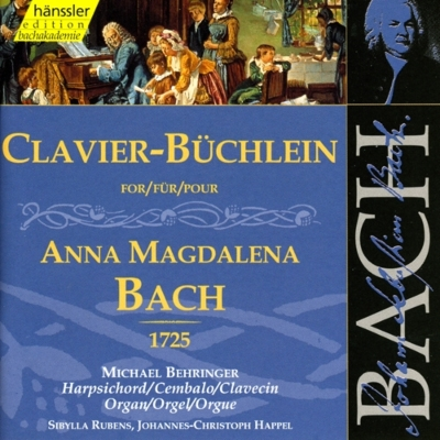 Buchlein Fur A.magdalena Bach: Behringer(Cemb, Org)