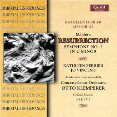 Symphony No, 2, : Klemperer / Concertgebouw Orchestra, Vincent, Ferrier (1951)