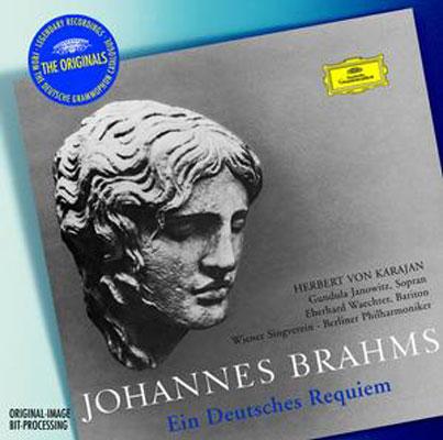 ドイツ・レクィエム カラヤン/ベルリン・フィル、ウィーン楽友協会合唱団、ヤノヴィッツ、ヴェヒター、(1964)