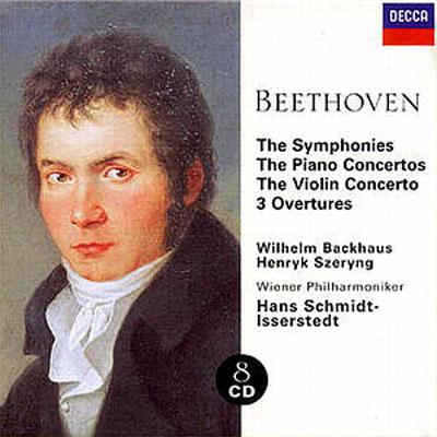 交響曲全集&ピアノ協奏曲全集、ヴァイオリン協奏曲 シュミット=イッセルシュテット指揮ウィーン・フィル、バックハウス(P)、シェリング(Vn)、ほか(8CD)