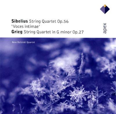 シベリウス:弦楽四重奏曲ニ短調Op.56、グリーグ:弦楽四重奏曲ト短調Op.27 ニュー・ヘルシンキ四重奏団