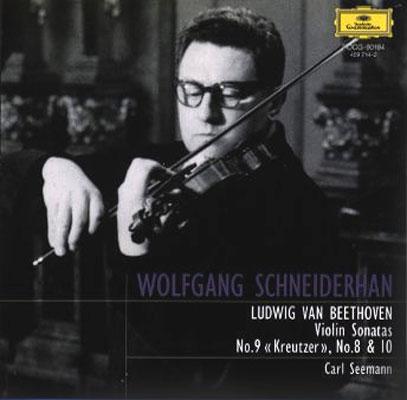 ヴァイオリン・ソナタ第8、9、10番 シュナイダーハン、ゼーマン ...