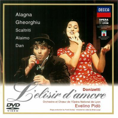 『愛の妙薬』全曲 ダンロップ演出、ゲオルギュー、アラーニャ、ピド&リヨン国立歌劇場(1996 日本語字幕付)(DVD)