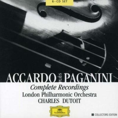 ヴァイオリン協奏曲全集、奇想曲、他 アッカルド(vn)デュトワ&LPO(6CD)