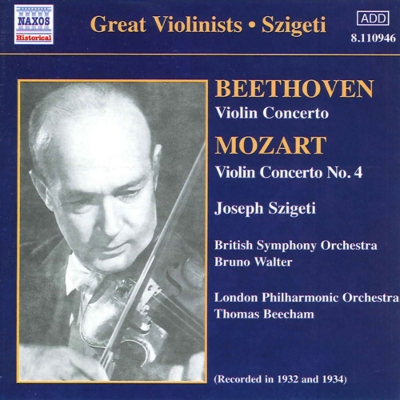 M:ヴァイオリン協奏曲第4番「軍隊」/B:ヴァイオリン協奏曲 シゲティ/ビーチャム/ロンドン・フィル/ワルター/ブリテッシュ交響楽団