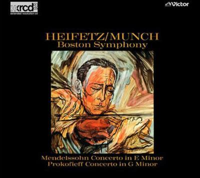 メンデルスゾーン:ヴァイオリン協奏曲、他 ハイフェッツ(vn)ミュンシュ&ボストン交響楽団(XRCD)