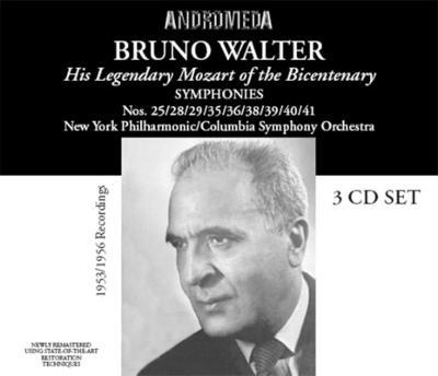 交響曲集(第25,28,29,35,36,38,39,40,41番) ワルター(3CD)