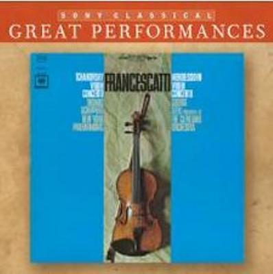 ヴァイオリン協奏曲、チャイコフスキー:ヴァイオリン協奏曲 フランチェスカッティ(vn)セル&クリーヴランド管、他