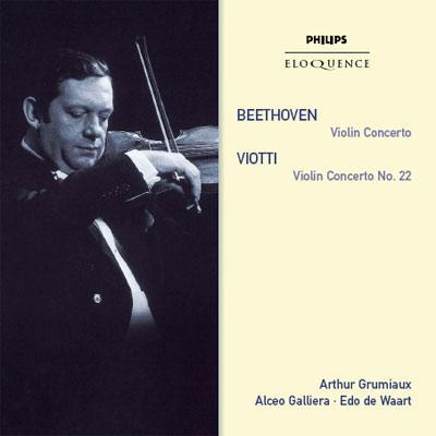 ヴァイオリン協奏曲、ヴィオッティ:ヴァイオリン協奏曲第22番 グリュミオー(vn)ガリエラ、ワールト