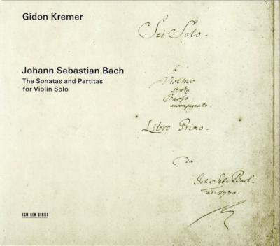 無伴奏ヴァイオリンのためのソナタとパルティータ全曲 クレーメル(2001−02)(2CD)