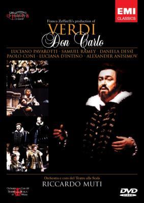 『ドン・カルロ』全曲 ゼッフィレッリ演出、ムーティ&スカラ座、レイミー、デッシー、パヴァロッティ、他(1992 ステレオ 日本字幕付)(2DVD)