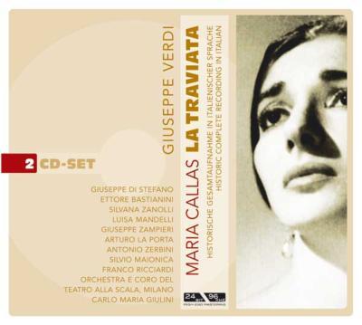 歌劇『椿姫』全曲 ジュリーニ&スカラ座、カラス、ディ・ステーファノ、バスティアニーニ(2CD)