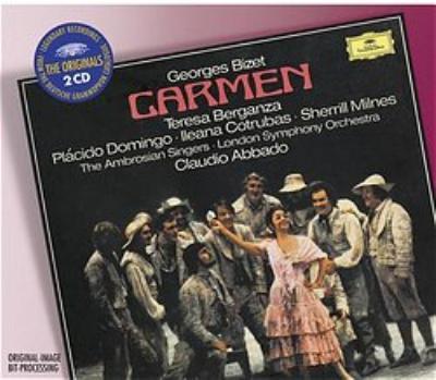 歌劇『カルメン』全曲 ベルガンサ、ドミンゴ、ミルンズ、他 アバド&ロンドン響