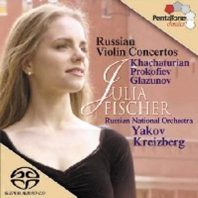 ハチャトゥリアン:ヴァイオリン協奏曲、グラズノフ:ヴァイオリン協奏曲、他 J.フィッシャー(vn)