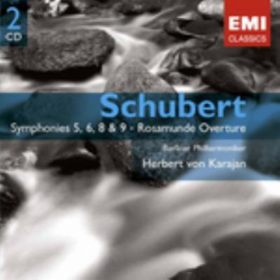 交響曲第5番、第6番、第8番『未完成』、第9番『グレイト』、他 カラヤン&BPO(2CD)