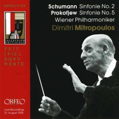 シューマン:交響曲第2番、プロコフィエフ:交響曲第5番 ミトロプーロス&ウィーン・フィル