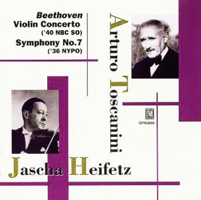 交響曲第7番、ヴァイオリン協奏曲 ハイフェッツ、トスカニーニ(指)ニューヨーク・フィル