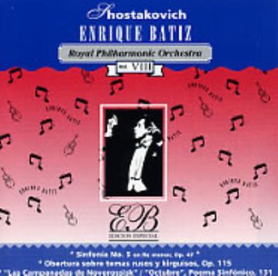 交響曲第5番、ロシアとキルギスの主題による序曲、ノヴォシビルスクの鐘、交響詩「10月革命」 バティス指揮ロイヤル・フィル