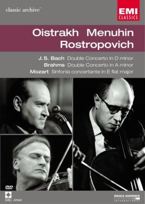 モーツァルト:協奏交響曲K.364、ブラームス:二重協奏曲 オイストラフ、ロストロポーヴィチ、ほか