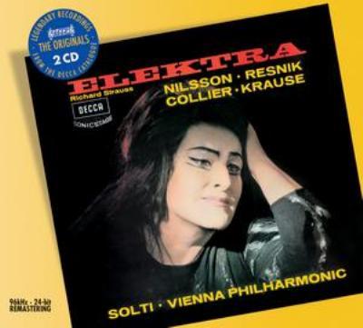 『エレクトラ』全曲 ゲオルグ・ショルティ&ウィーン・フィル、ビルギット・ニルソン、ゲルハルト・シュトルツェ、他(1966,67 ステレオ)(2CD)