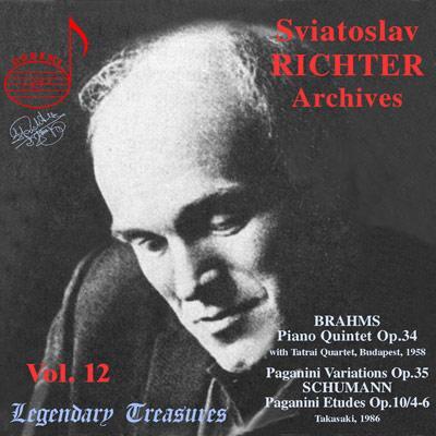 ピアノ五重奏曲、他 リヒテル(p)タートライ四重奏団