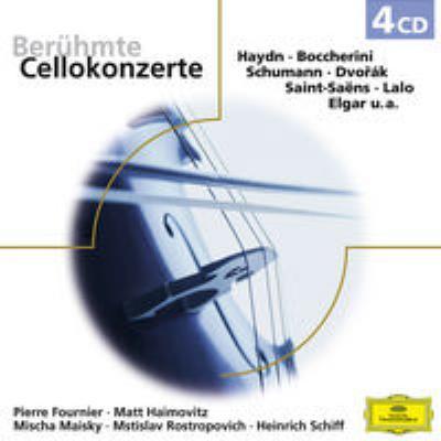 Cello Concertos: Fournier Haimovitz Maisky H.schiff Rostropovich