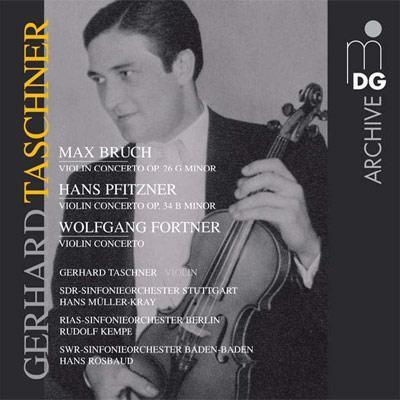 ブルッフ:ヴァイオリン協奏曲第1番、プフィッツナー:ヴァイオリン協奏曲、他 タシュナー(vn)